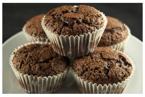 Muffins de chocolate y zanahoria