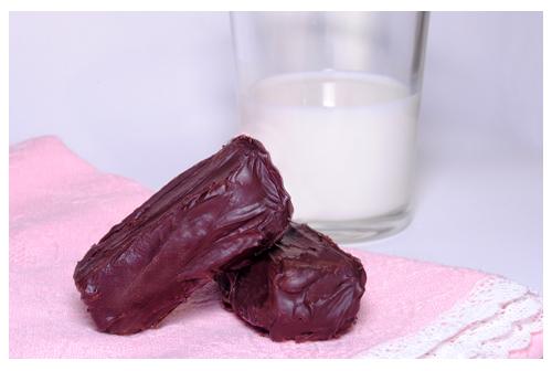 Barritas de chocolate con dulce de leche