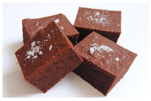 Brownies de chocolate «salados»