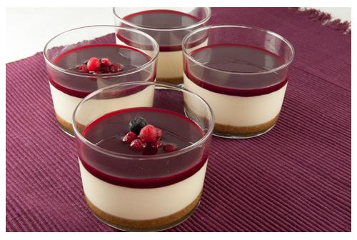 Cheesecake sin horno en vasitos