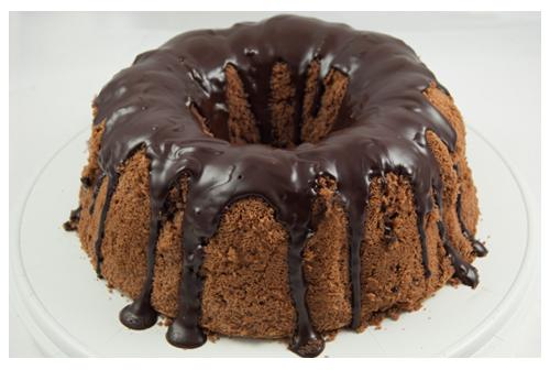 Bizcocho chiffon de chocolate