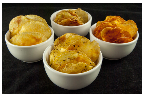 Chips de patata en el microondas
