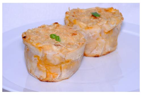 Cupcakes de lasagna