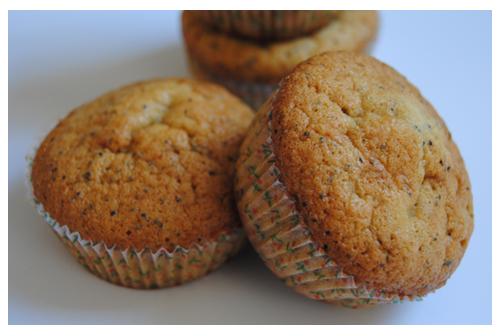 Muffins de limón y semillas de amapola
