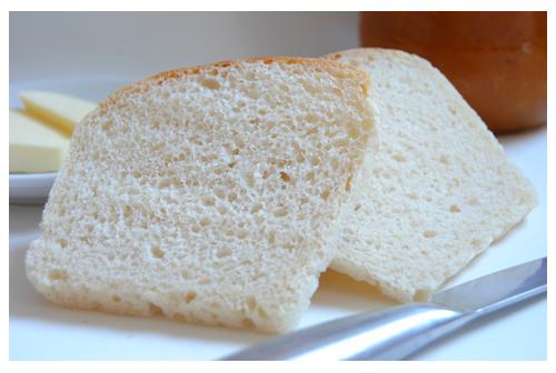 Pan de molde inglés con masa madre natural