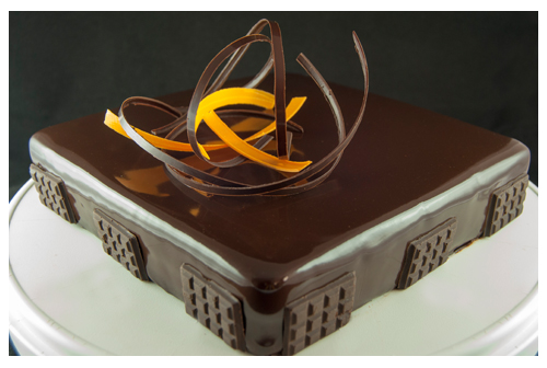 Tarta mousse de chocolate y mango
