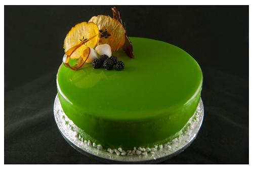 Tarta mousse de manzana verde