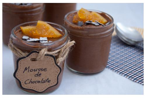 Mousse de chocolate esponjosa