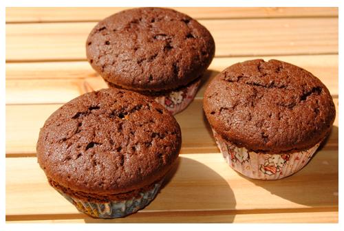 Muffins con dulce de leche en Horno Solar