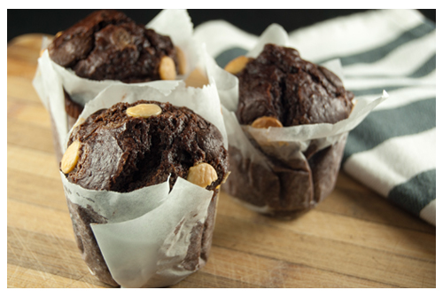 Muffins con espelta y chocolate