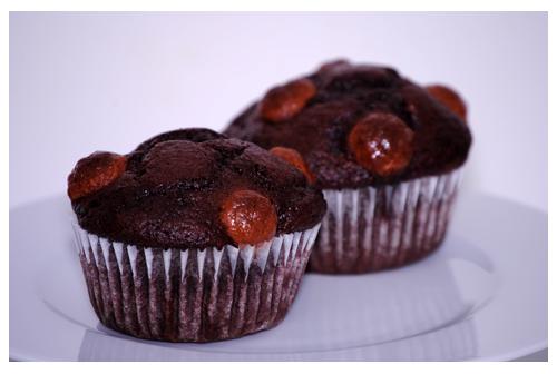 Muffins de chocolate con Maltesers