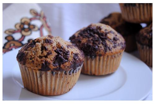 Muffins de moka y chocolate