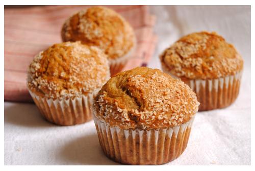 Muffins de plátano y coco
