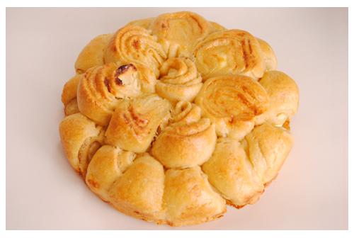 Flor de pan con espelta, relleno
