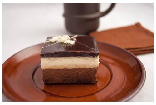 Pasteles de chocolate y vainilla