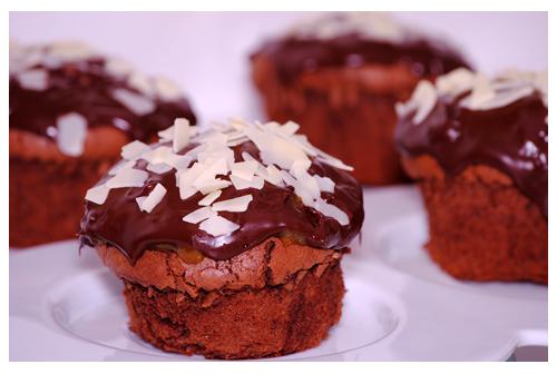 Muffins tipo Sacher