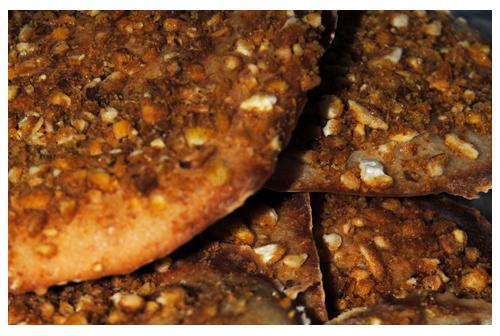 Piruletas crujientes de pan y kikos
