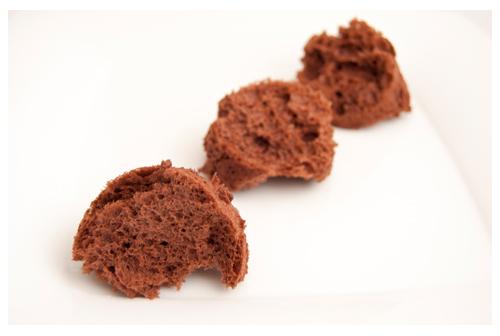 Bizcocho de chocolate con sifón