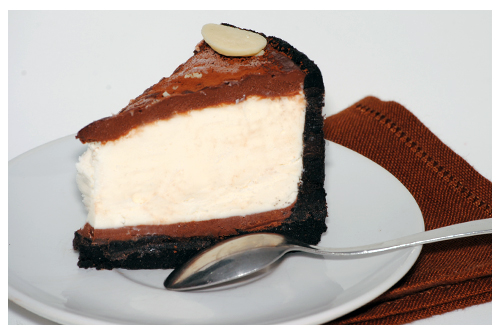 Tarta helada de queso y chocolate