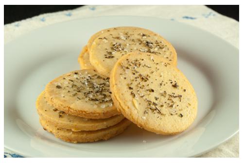 Galletas mediterráneas de queso